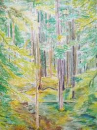Aquarelle - 76 x 58 cm - 1991 - Vendu - coll. particulière
