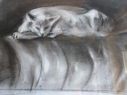 Fusain - 16 x 20 cm - 1999 - vendu - Coll. particulière
