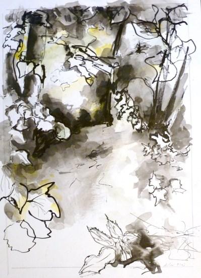Encre de Chine et Gouache - 42 x 30 cm - 2003