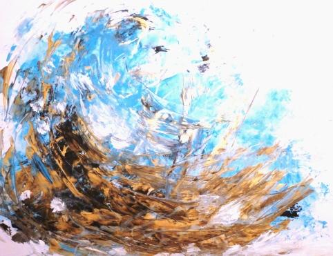Acrylique - 45 x 61 cm - 2004 - vendu - Coll. particulière