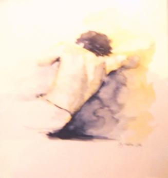Aquarelle - 30 x 30 cm - 1993 - vendu - Coll. particulière