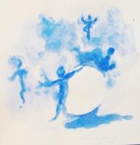 Acrylique - 28 x 28 cm - 2011 - vendu - Coll. particulière