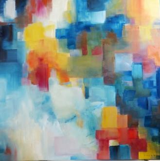 Acrylique – 100 x 100 cm- 2013 - vendu - Coll. particulière