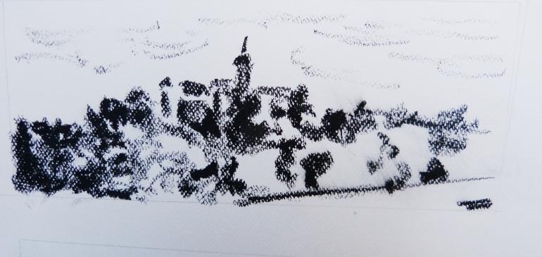 Pastel gras - 8 x 23 cm - 2013