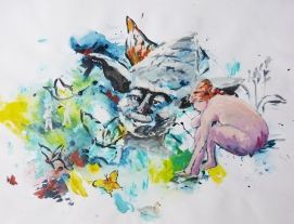Acrylique - Dimensions : 50 x 65 cm - 2011 - vendu - Coll. particulière